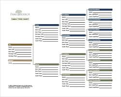 Family Tree Example Template Free Family Tree Chart Template Download Editable Templates