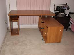 image of custom diy l shaped desk