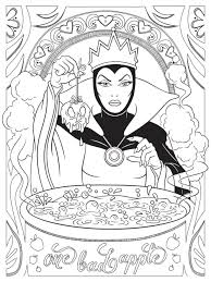 The evil queen from walt disney's animated classic snow white and the seven dwarfs has never looked more wicked! Evil Queen Disney Adult Coloring Page Coloring Rocks