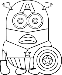 Small Picture Minion Captain America Coloring Pages coloring page