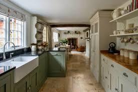 modern cottage kitchen design. Old White Kitchen Design Modern Cottage Red Ceramic Tile Backsplash Brown Stone Stylish E