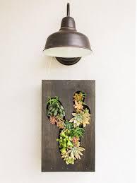 diy vertical cut out planter succulent