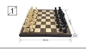 <b>Yernea</b> Books Shape Chess Pieces Wood Folding Board Solid ...