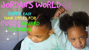 Toddler Curly Hairstyles Super Easy Hairstyles For Curly Haired Toddler Girls Youtube