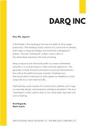 Company Letterhead Template Sample Business And Download Free