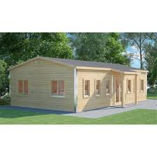 Discovery Premier Cabins: 6m x 10m (60m2) Premier School Classroom -  Building Compliant - Log Cabin - 70mm Wall Thickness - Double Glazing