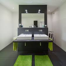 Fertighaus Wohnidee Badezimmer In Schwarz Und Grün Wohnideen