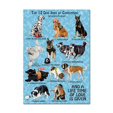 Designed 4 Dogs The 12 Dog Jobs Of Christmas Poster Designed By Boo