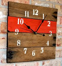 rustic home decor reclaimed barnwood wall clocks the
