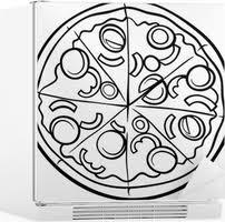 Lack Tafelsticker Italiaanse Pizza Cartoon Kleurplaat Pixers We