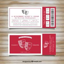 Play Ticket Template Play Theatre Even Ticket Tickets Ticket Template Ticket