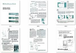 dishwasher library kitchenaid kd 15 series dishwasher installation published by kitchenaid in 1965 complete installation instructions packed every 15 series kitchenaid built in dishwashers models include superba
