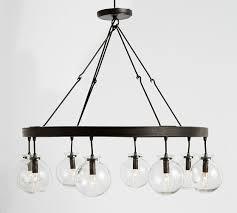 lighting globes glass. Barrett Glass Globe Chandelier Pottery Barn Lighting Globes