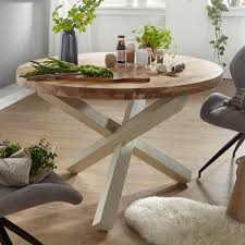 Wohnling Esszimmertisch Rund ø 120 Cm Akazie Massiv Holz Esstisch