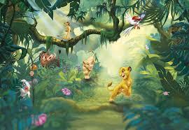 Foto Behang Lion King Jungle 8 475 Behanggigant