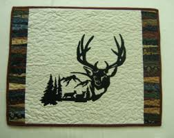 Hunting themed wedding cake topper bride groom hunters & Quilted Wall Hanging, Deer Wall Hanging, Outdoor Wall Hanging, Deer Wall  Art, Adamdwight.com