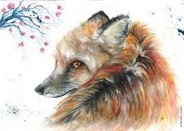 Red Fox' Metal Poster Print - Elena Wolf   Displate