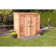 Outside office shed Unique Backyard 6 3 Cedar Garden Storage Shed Wood Storage Shed Sheds Barns Costco