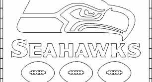 Seattle Seahawks Coloring Pages Color Bros