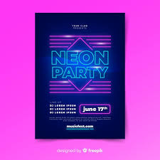 Free Music Poster Templates Neon Light Music Poster Template Vector Free Download