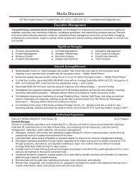 General Manager Resume Sample Ho Saneme