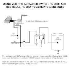 honda vtec solenoid with 8950 and relay msd blog biondo electric shifter wiring diagram at Msd Rpm Activated Switch Wiring Diagram