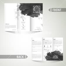 Membership Booklet Template Abstract Design Decorated Trifold Brochure Or Booklet Template