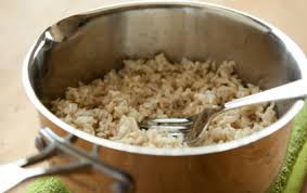 cooked brown rice in a bowl. Wonderful Cooked How To Cook Brown Rice With Cooked In A Bowl G