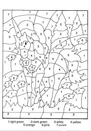 Kleurplaat Met Cijfers Inkleuren Lapsi