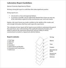 lab report sample sample physics lab report outline template for report outline template 10 sample example format