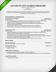 Resume Templates For Accountan
