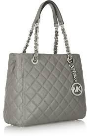 Lyst - Michael michael kors Susannah Small Quilted Leather Tote in ... & MICHAEL Michael Kors. Women's Grey Susannah Small Quilted Leather Tote Adamdwight.com