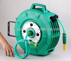 20m retractable garden hose reel wall mounted with swivel joint