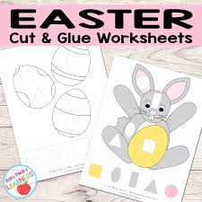 Free Easter Cut and Glue Worksheets - Easy Peasy Learners