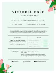 Floral Designer Resume Sample Best of Professional Software Engineer Resume Templates By Canva