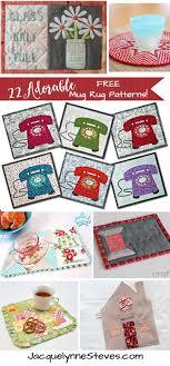 Mug Rug Patterns Stunning 48 Adorable Free Mug Rug Patterns Jacquelynne Steves