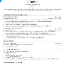 Best Resume Format For Software Engineers Experienced Engineer