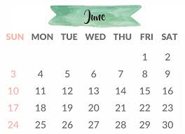 Printable June Calendar 2018 Shared By Gaige Scalsys