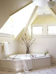 Sloped Roof Bedroom Bathroom Attic Bathroom Interior In Small Space With Sloping
