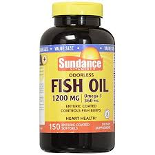 Sundance <b>Omega</b>-<b>3 Odorless</b> Fish Oil 1200 Enteric Coated, 150 ...