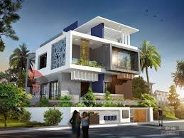 front exterior design of indian bungalow 3d modern and villa plan