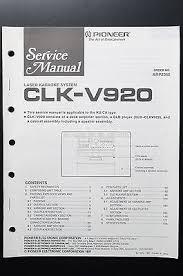 pioneer pd j510 original service manual guide wiring diagram o4 pioneer clk v920 original service manual guide wiring diagram o4