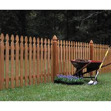 ... shop wood fencing 42 x 8 premium cedar gothic picket fence panel  intended for Cedar fence