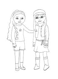 American Girl Coloring Pages Grace Girl Color Pages Girl Coloring