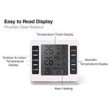 description description digital electronic wireless indoor outdoor temperature alarm thermometer with 2 sensors