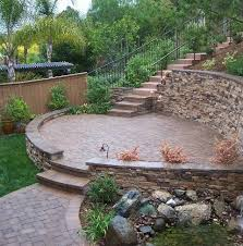 Retaining Wall Ideas For Sloped Backyard Yard Garden Ideas In Custom Backyard Retaining Wall Designs Plans