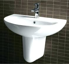 kohler wall mount hung sink plumbing installation in basin bracket
