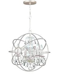 brushed nickel crystal chandelier compact 3 light pendant satin and contemporary chandeliers orb