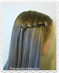 Hairstyle Waterfall hairstyles for girls princess hairstyles 3496 by stevesalt.us