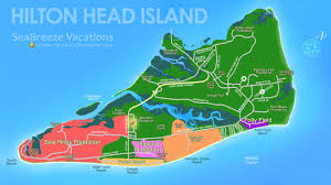 hilton head island map with of  roundtripticketme